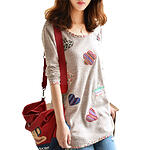 Sweet Korean Blouse with Cute Pattern