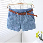 Mid Waist Short with Lace