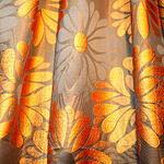 Curtain - Orange and Brown Theme