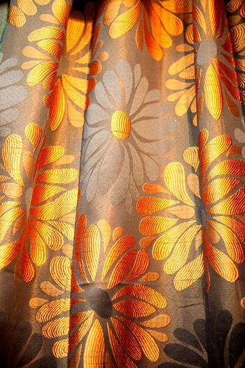 Curtain - Orange and Brown Theme