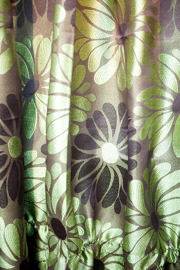 Curtain - Green and Brown Theme
