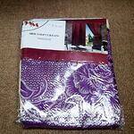 Curtain Purple and Beige Theme