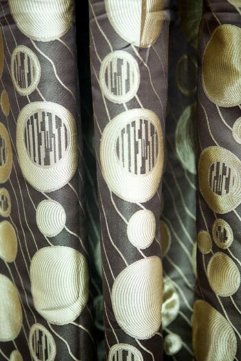 Curtain - Circle Pattern in Brown Theme