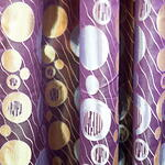 Curtain - Circle Pattern in Purple Theme