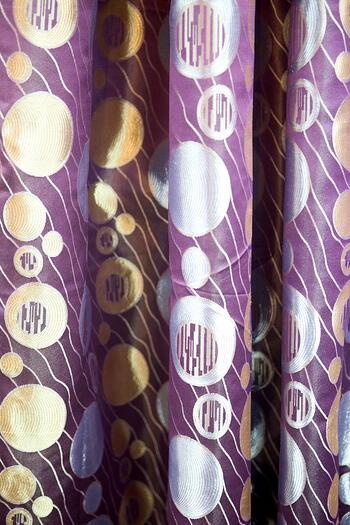 Curtain - Circle Pattern in Purple Theme