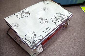Printed Flowers Storage Bag