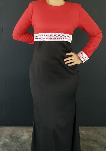 Jubah Modern - HA684FD Col 55/99 Red/Black Size XL