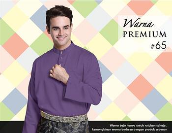 Baju Melayu -100 Warna Premium 65 Purple Size XXL