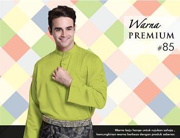 Baju Melayu -100 Warna Premium 85 Green Size S