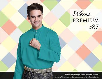Baju Melayu -100 Warna Premium 87 Green Size L
