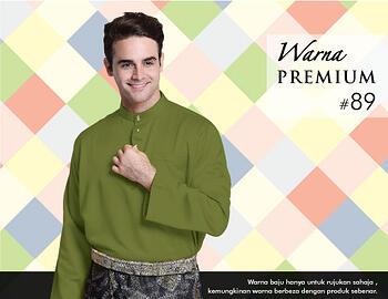 Baju Melayu -100 Warna Premium 89 Green Size XXL