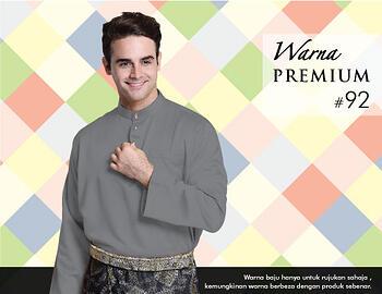 Baju Melayu -100 Warna Premium 92 Black Size M
