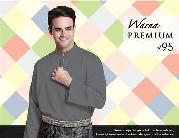 Baju Melayu -100 Warna Premium 95 Black Size M