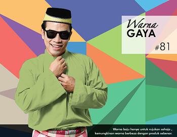 Baju Melayu -100 Warna Gaya 81 Green Size M