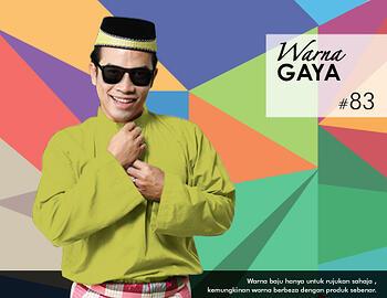 Baju Melayu -100 Warna Gaya 83 Green Size L
