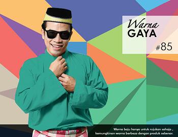 Baju Melayu -100 Warna Gaya 85 Green Size M