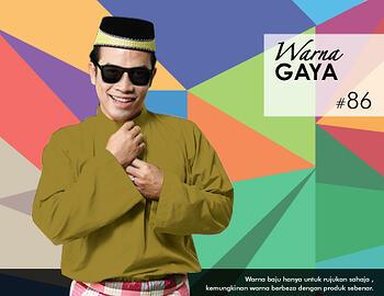 Baju Melayu -100 Warna Gaya 86 Green Size XL