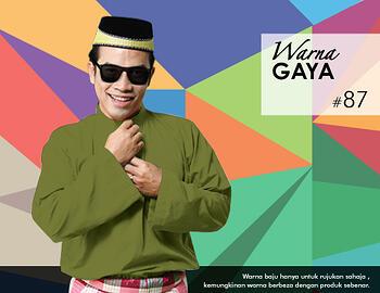Baju Melayu -100 Warna Gaya 87 Green Size L