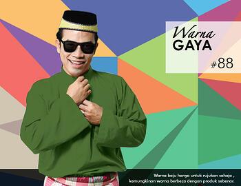 Baju Melayu -100 Warna Gaya 88 Green Size XL