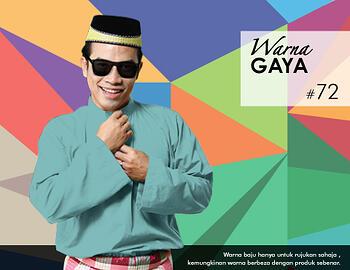 Baju Melayu -100 Warna Gaya 72 Blue Size M