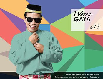 Baju Melayu -100 Warna Gaya 73 Blue Size L
