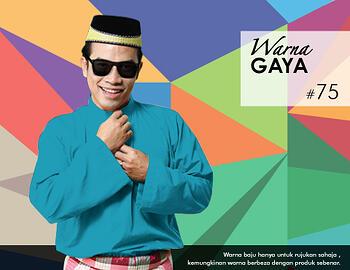 Baju Melayu -100 Warna Gaya 75 Blue Size M
