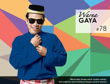 Baju Melayu -100 Warna Gaya 78 Blue Size L