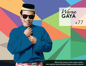 Baju Melayu -100 Warna Gaya 77 Blue Size M