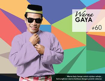 Baju Melayu -100 Warna Gaya 60 Purple Size M