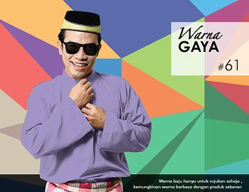Baju Melayu -100 Warna Gaya 61 Purple Size L