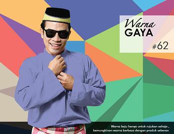 Baju Melayu -100 Warna Gaya 62 Purple Size XL