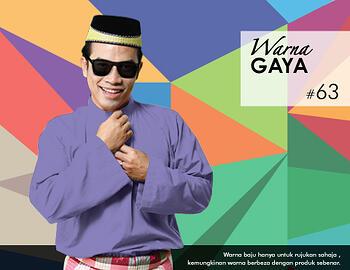 Baju Melayu -100 Warna Gaya 63 Purple Size L