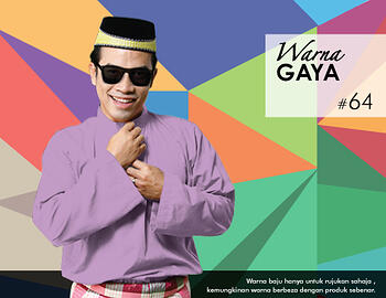 Baju Melayu -100 Warna Gaya 64 Purple Size S