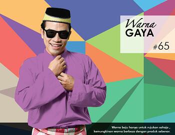 Baju Melayu -100 Warna Gaya 65 Purple Size XL