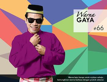 Baju Melayu -100 Warna Gaya 66 Purple Size M