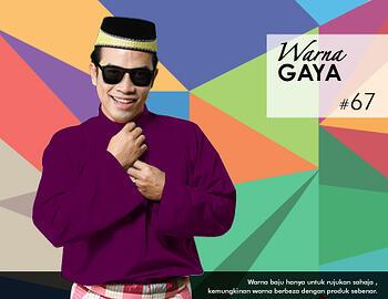 Baju Melayu -100 Warna Gaya 67 Purple Size M
