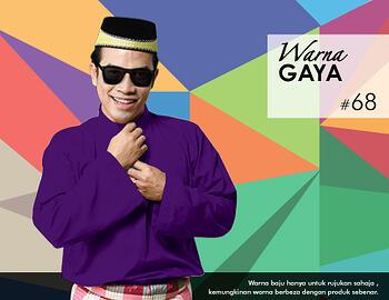 Baju Melayu -100 Warna Gaya 68 Purple Size XL