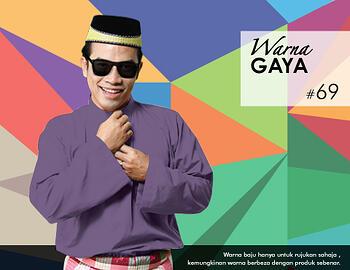 Baju Melayu -100 Warna Gaya 69 Purple Size L