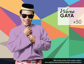Baju Melayu -100 Warna Gaya 50 Red Size L