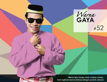 Baju Melayu -100 Warna Gaya 52 Red Size XXL