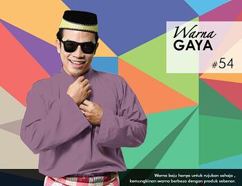 Baju Melayu -100 Warna Gaya 54 Red Size M