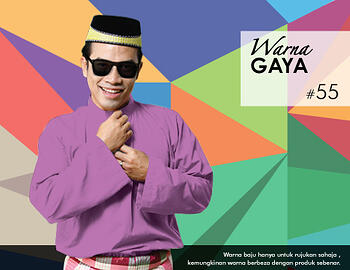 Baju Melayu -100 Warna Gaya 55 Red Size XL