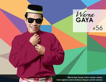 Baju Melayu -100 Warna Gaya 56 Red Size M