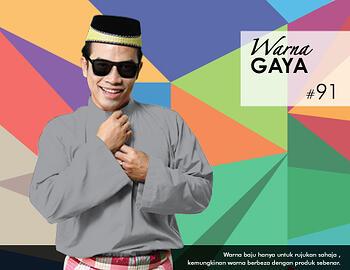 Baju Melayu -100 Warna Gaya 91 Black Size XXL