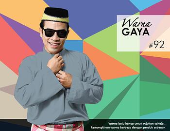 Baju Melayu -100 Warna Gaya 92 Black Size L