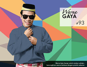 Baju Melayu -100 Warna Gaya 93 Black Size M