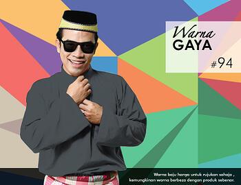 Baju Melayu -100 Warna Gaya 94 Black Size XXL