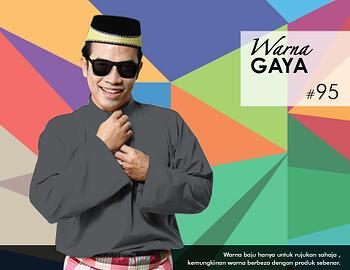Baju Melayu -100 Warna Gaya 95 Black Size XL