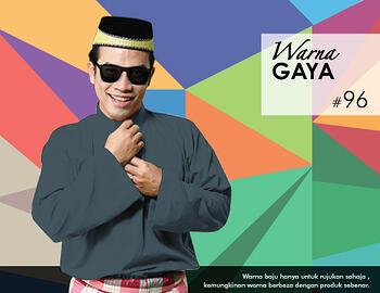 Baju Melayu -100 Warna Gaya 96 Black Size M