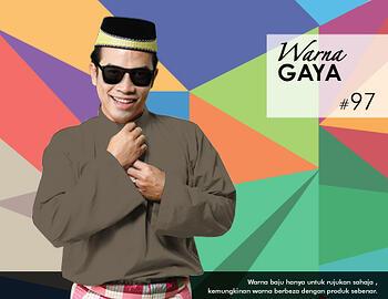 Baju Melayu -100 Warna Gaya 97 Black Size XXL
